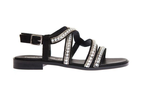 sandalo donnaartigianale pasquini calzature colore nero