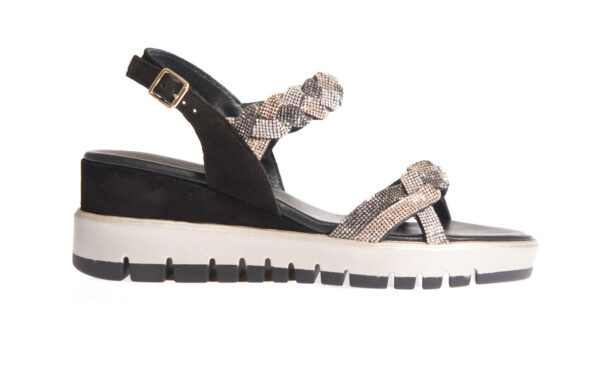 sandalo donna alto in pelle pasquini calzature artigianali