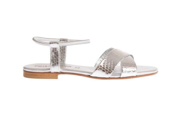 sandalo basso da donna produzione artigianale pasquini calzature