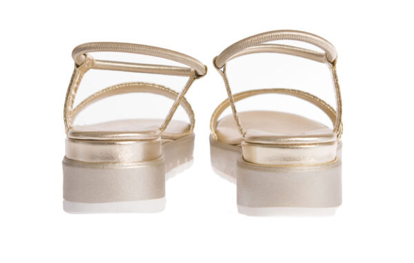 sandalo donna basso con suola in gomma produzione artigianale made in italy