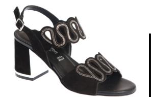 scarpa nera sandalo donna produzione italiana pasquini calzature
