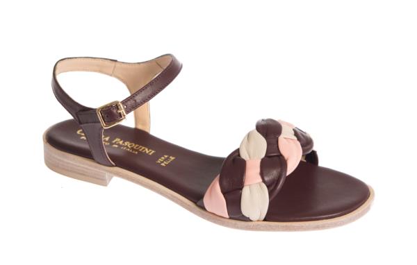 sandalo estivo da donna prodotto da pasquini calzature artigianali