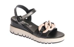 sandalo donna con zeppa alta produzione pasquini calzature italia