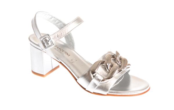elegante sandalo donna con tacco produzione pasquini calzature