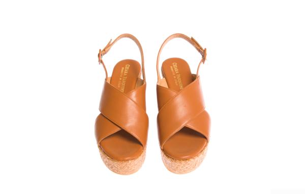 sandalo donna con zeppa alta di produzione italiana pasquini calzature