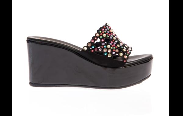 sandalo donna estivo con zeppa alta chiara pasquini calzature italiane