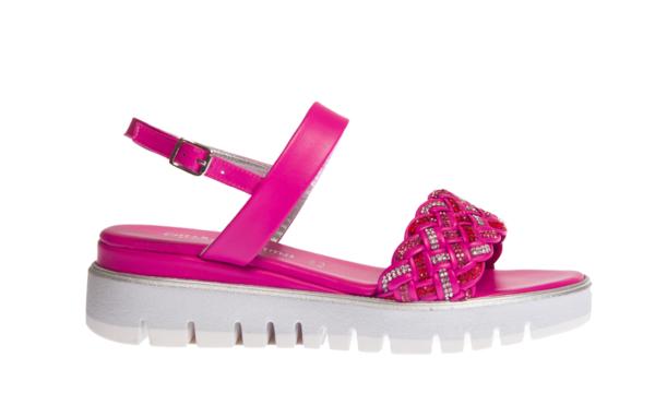 sandalo estivo donna colore fucsia pasquini calzature