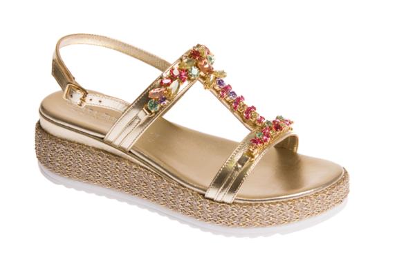 sandalo estivo donna con zeppa alta chiara pasquini calzature italiane